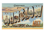 Greetings from Winslow, Arizona Posters