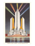 Three Fluted Towers, Chicago World's Fair Posters