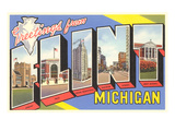 Greetings from Flint, Michigan Prints