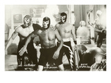 Mexican Wrestlers, Photo Affischer