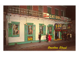 Girly Bar, Bourbon Street, New Orleans, Louisiana Poster