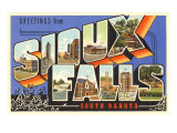 Greetings from Sioux Falls, South Dakota Prints