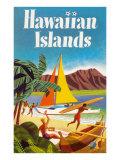 Hawaiian Islands Poster - Poster