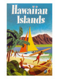 Hawaiian Islands Poster Póster