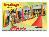 Greetings from Miami, Florida Prints