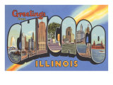 Greetings from Chicago, Illinois Prints