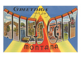 Greetings from Miles City, Montana Posters