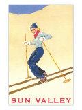 Skiiing in Sun Valley, Idaho Prints