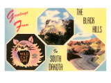 Greetings from the Black Hills, South Dakota Prints