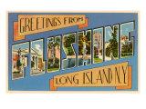 Greetings from Flushing, Long Island, New York Prints