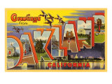 Greetings from Oakland, California Posters