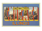 Greetings from Chicago. Illinois Posters