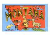 Greetings from Montana, Map Posters