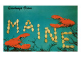 Greetings from Maine, Lobster Posters