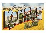 Grüße aus Kansas Kunstdrucke