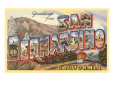 Greetings from San Bernardino, California Prints