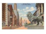 Michigan Avenue, Chicago, Illinois Poster