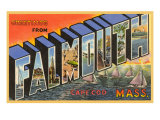 Greetings from Falmouth, Massachusetts Prints