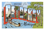Greetings from Petoskey, Michigan Prints