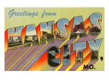 Greetings from Kansas City, Missouri Kunstdrucke