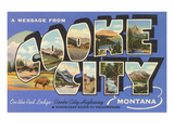 Message from Cooke City, Montana Poster
