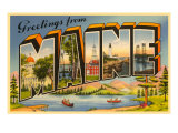 Greetings from Maine Poster
