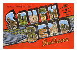 Greetings from South Bend, Indiana Print