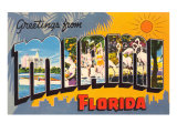 Greetings from Miami Beach, Florida Print