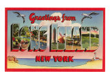 Greetings from Long Island, New York Art