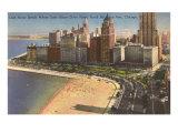 Oak Street Beach, Chicago, Illinois Poster