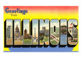 Greetings from Illinois Prints