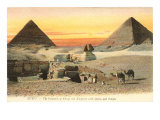 Pyramids and Sphinx, Egypt Prints