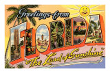 Greetings from Florida, Land of Sunshine Posters