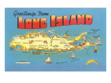Greetings from Long Island, New York Prints