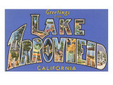 Greetings from Lake Arrowhead, California Print