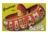 Mexico: Greetings from Tijuana / Large Letters Posters