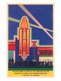 Art Deco Entrance, Chicago World's Fair Posters