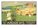 St. Andrews, golfbane Premium Giclee-trykk