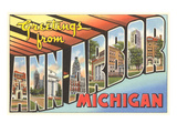 Greetings from Ann Arbor, Michigan Prints