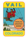 Skiing, Vail, Colorado Prints