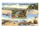 Greetings from Jacksonville, Florida Posters