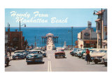 Howdy from Manhattan Beach, California Poster