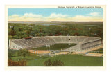University Stadium, Lawrence, Kansas Giclee Print