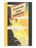 Greetings from California Prints