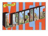 Greetings from Lansing, Michigan Prints