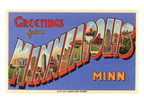 Greetings from Minneapolis, Minnesota Posters