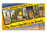 Greetings from Decatur, Illinois Prints