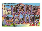Greetings from Grand Canyon, Arizona Prints