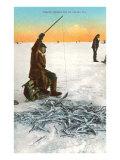 Ice Fishing on Bering Sea Prints