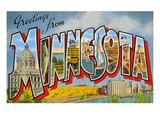 Greetingsfrom Minnesota Poster